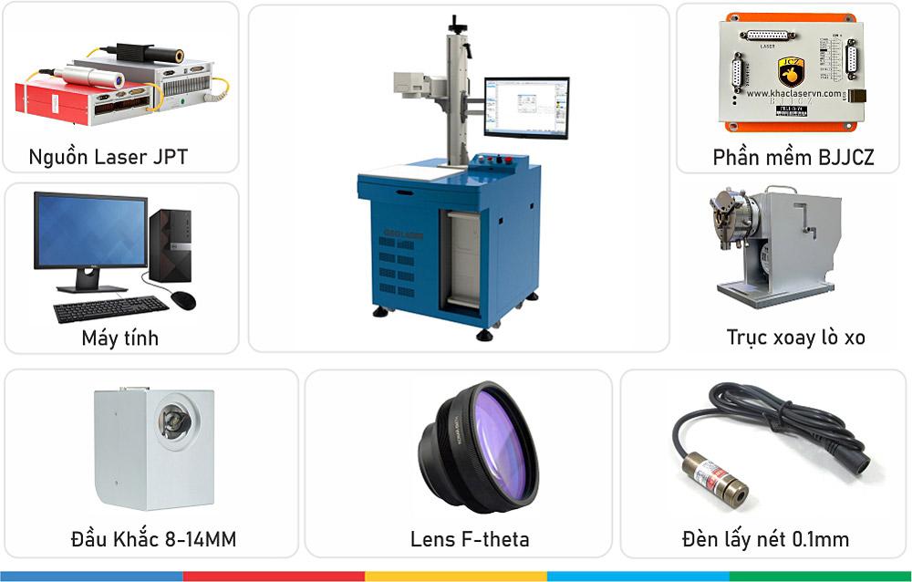 Máy khắc laser JPT 20W đầy đủ phụ kiện